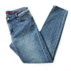 Banana Republic • Polka Dot Skinny Jeans